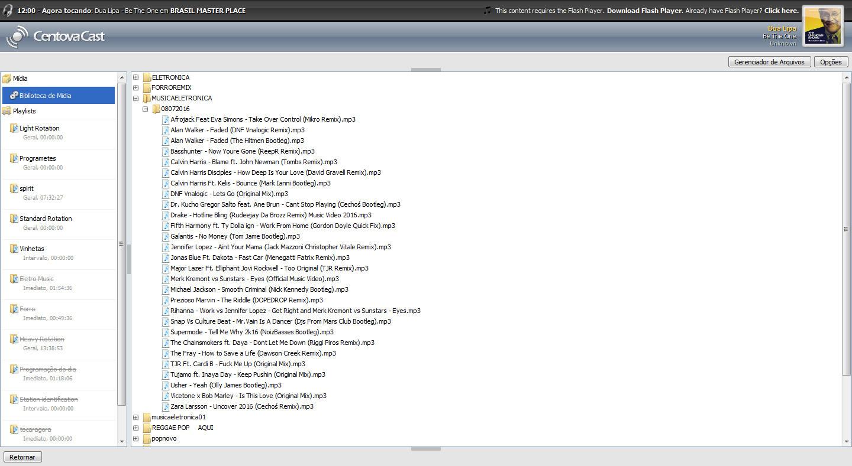 Centovacast Programação da playlist